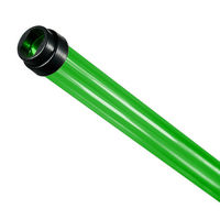 F28T5 - Green - Fluorescent Tube Guard with End Caps - 48 in. Length - Protective Lamp Sleeve - PLAS-T5TGG