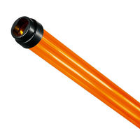 F28T5 - Amber - Fluorescent Tube Guard with End Caps - 48 in. Length - Protective Lamp Sleeve - PLAS-T5TGA