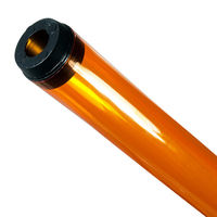 F96T12 - Amber - Fluorescent Tube Guard with End Caps - 96 in. Length - Protective Lamp Sleeve - Case of 12 - PLAS-8TGA
