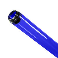 F32T8 - Royal Blue - Fluorescent Tube Guard with End Caps - 48 in. Length - Protective Lamp Sleeve - PLAS-100175