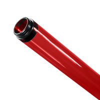 F32T8 - Red - Fluorescent Tube Guard with End Caps - 48 in. Length - Protective Lamp Sleeve - PLAS-100221