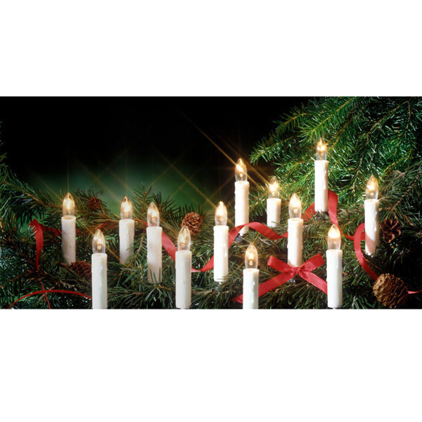 (4 Pack) - 13 in. ht. - LED - WHITE - Christmas Window Candle Image