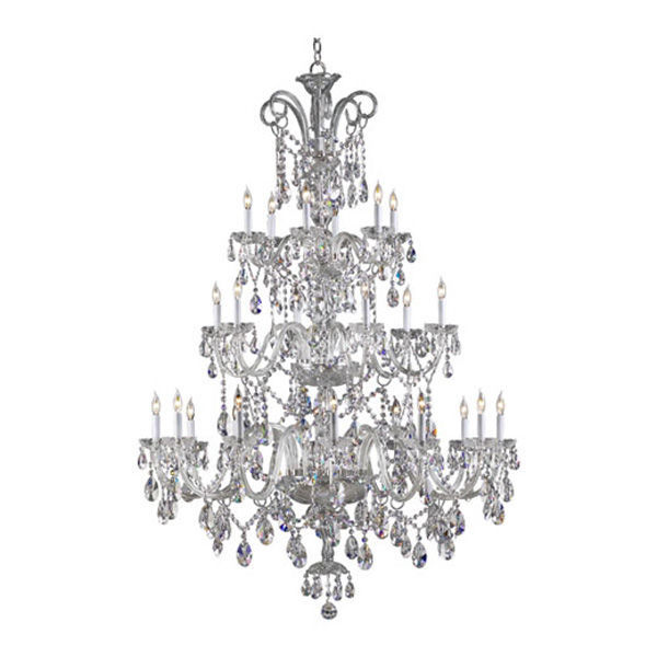 Quorum 630-24-514 - 3 Tier Crystal Chandelier Image