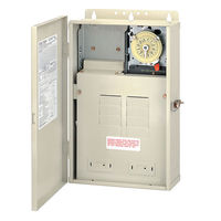 Intermatic T30004R - Pool-Spa Mechanical Control Panel - (1) T104M Mechanism - Steel Case - Beige Finish - SPST - 100 Amps - 240 Volt
