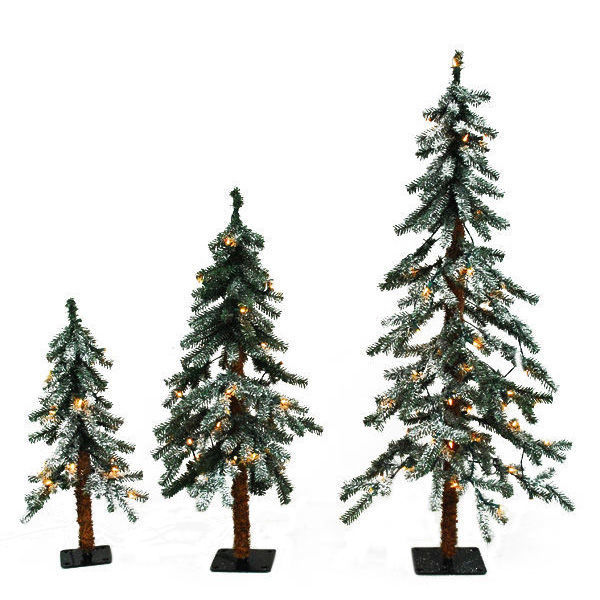 Christmas Tree Set - Flocked Timberline Alpine - Barcana
