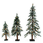 (3) Trees - 2 ft., 3 ft., 4 ft. Artificial Christmas Tree Set Image