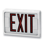 LED - White Steel - Single Face Direct View Exit Sign Image