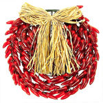 (150) Bulbs - Red Chili Pepper Wreath Image