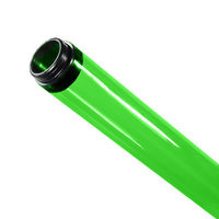 F32T8 - Green - Fluorescent Tube Guard with End Caps - 48 in. Length - Protective Lamp Sleeve - PLAS-100211