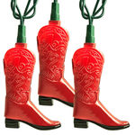 (10) Bulbs - Red Cowboy Boot Lights Image