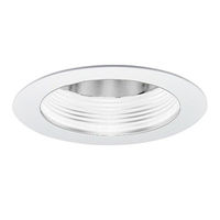4 in. - Baffle with Cone Reflector and Ring - White Finish/Specular Clear Reflector - PLT PTS4230WW