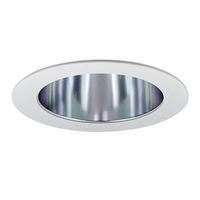 4 in. - Cone Reflector and Ring - Specular Clear Reflector/White Ring - PLT PTS4231CW