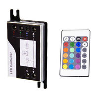 Controller and IR Remote for 12/24 Volt Color Changing RGB LED Strip Light - FlexTec LC0RGBD507