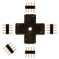 Plus Shape Connector for 12 or 24 Volt LED Tape Light - (5) 4-Pin Connectors Included - FlexTec CONNPLUS4P
