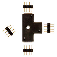 T-Shape Connector for 12 or 24 Volt LED Tape Light - (4) 4-Pin Connectors Included - FlexTec TCONNT4P