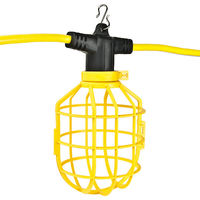 100 ft. String Light with 10 Lamp Holders and Guards - Molded Plugs - 12/3 SJTW - PLT GL100-123-MPC