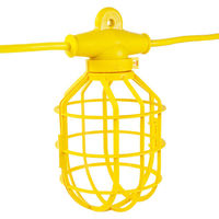 100 ft. - String Light - 10 Lamp Holders and Guards - Molded Plug - 14/2 SJTW - PLT GL100-142MPC