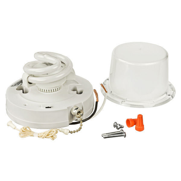 13W - Compact Fluorescent Lampholder with Pull Chain Switch Image