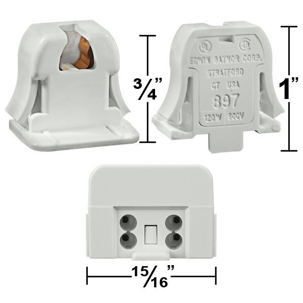 T5 - Mini Bi-Pin Socket - PLT EG897 Image