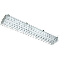 4 Lamp - F54T5 - High Output - Fluorescent High Bay - 95% Specular Reflector - 120 Volt - With Protective Cage