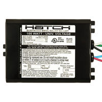 Hatch MC100-1-F-UNNU-HB - 100 Watt - Electronic Metal Halide Ballast - ANSI M90/M140 - 120/208/240/277 Volt - Power Factor 95% - Max. Temp. Rating 176 Deg. F - Side Leads with Mounting Feet