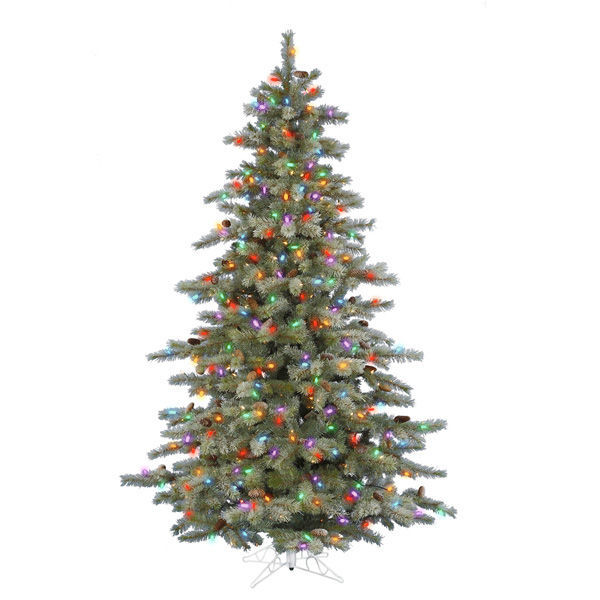 7.5 ft. x 57 in. Frosted Christmas Tree Image