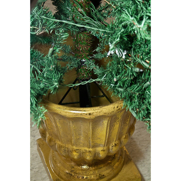 Antique Gold Tree Pot Image