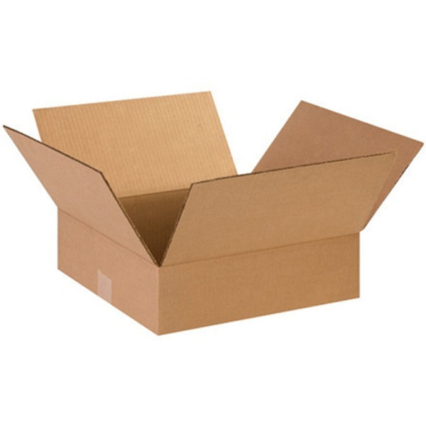 (25 Boxes) 12L x 12W x 4H in. - RSC Flat Corrugated Boxes Image