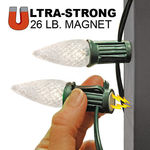 Magnetic Sockets - 100 ft. Stringer - (80) LED C9 - WARM WHITE Image