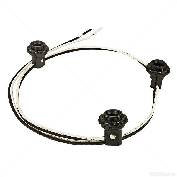 satco 90 1556 phenolic candelabra socket wire lead satco 80 1912 3 light phenolic candelabra base harness set image