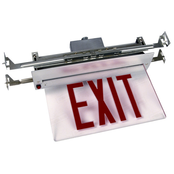 LED Exit Sign - Value Edge-Lit - Red Letters Image
