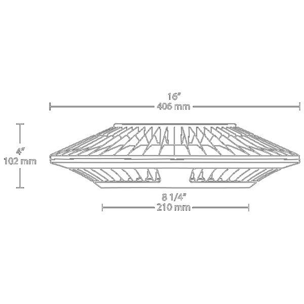 LED Ceiling Light Fixture - 2813 Lumens - 52 Watt - 175W Equal Image