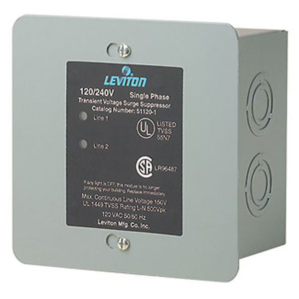 Leviton 51120-1 - AC Single Phase Surge Protector Image