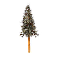 2 ft. - Dakota Pine - 24 Realistic Molded Tips - Unlit - Vickerman Artificial Half Wall Christmas Tree