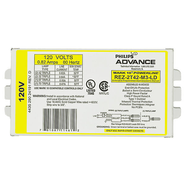 Advance Mark 10 Powerline REZ2T42M3LD Image