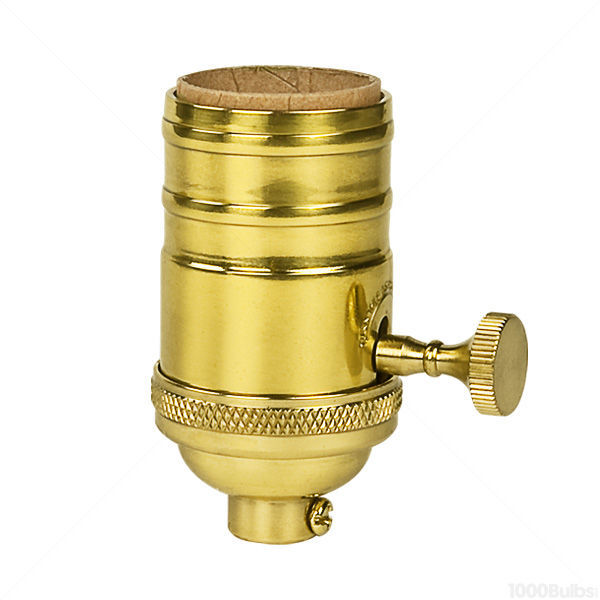 3-Way (2 Circuit) Turn Knob Socket - Polished Solid Brass Finish Image