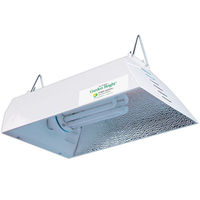 20 in. Grow Light Hood - Compact Fluorescent - Louvered for Max Air Cooling - Mogul Socket - Operates up to 250 Watt Lamp - Aluminum Interior - Lamps Sold Separately - Garden Bright by Sun System
