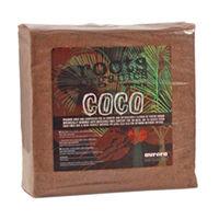 5 Kg - Coco Fiber - Natural Composted Coconut Husk - Compressed - Roots Organics ROCB