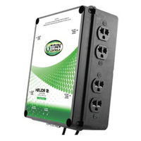 Titan Controls 702825 - Helios 12 - Grow Light Controller with Dual Trigger Cords - 8 Outlets for HID Ballasts - 8000 Max. Wattage - 240V - 40A