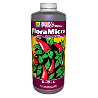 1 qt. - FloraMicro - Hydroponic Nutrient Solution - (5-0-1) NPK Ratio - General Hydroponics 718120