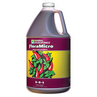 1 gal. - FloraMicro - All Stages Fertilizer - Hydroponic Nutrient Solution - General Hydroponics 718125
