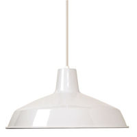 Industrial Pendant - 1 Light - White RLM Warehouse Shade - Nuvo 76-283