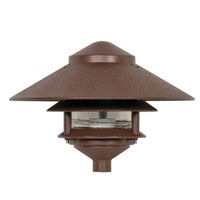 Nuvo 76-635 - 75 Watt Max. - Pagoda Pathway Light - 2 Louver - Large Hood - Old Bronze Finish - 120 Volt