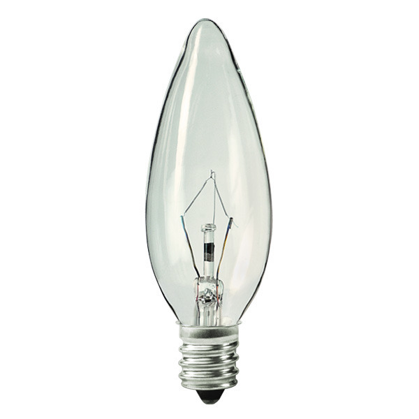25 Watt - B10 - Clear - Straight Tip Image