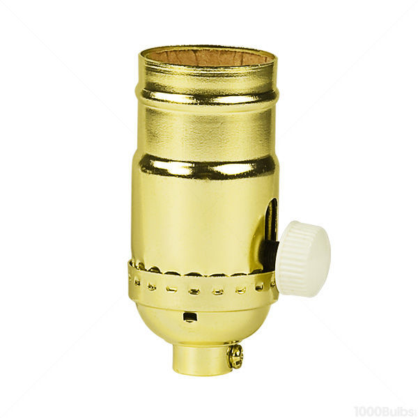 Turn Knob Dimmer Socket - Brite Gilt Brass Finish Image