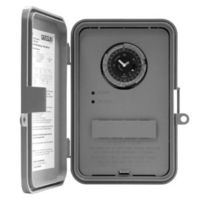 Intermatic GM40AV - Auto-Voltage - 24 Hour Dial Electromechanical Time Switch - NEMA 3R Raintight Outdoor Plastic Case - DPDT - 40 Amps - 120/208-240/277 Volt