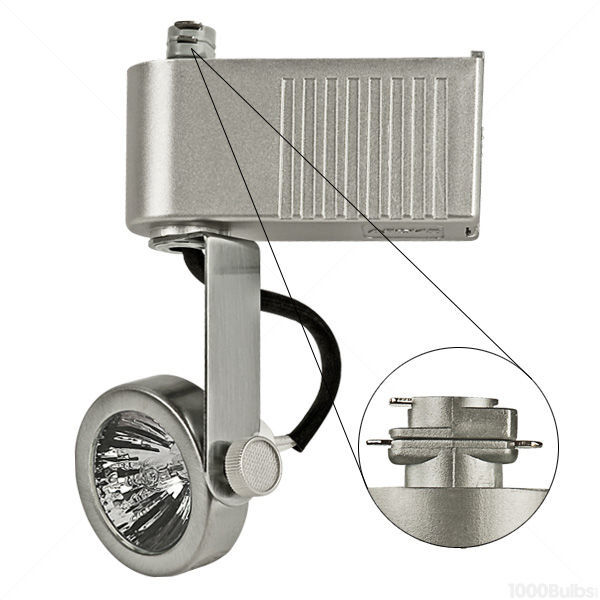 Nora NTL-207/75N - Gimbal Ring Low Voltage Track Fixture - Natural Metal Image