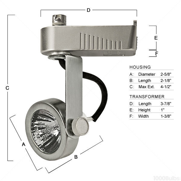 Nora NTL-207N - Gimbal Ring Low Voltage Track Fixture - Natural Metal Image