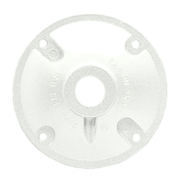 RAB XC1W - Round Weatherproof Cover for Round Wiring Box Image