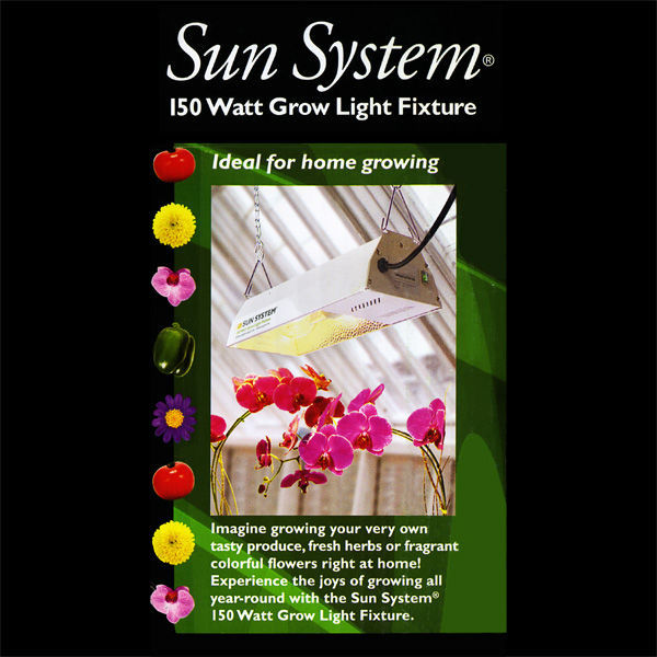 150 Watt - Mini Sunburst - Grow Light Reflector Kit Image